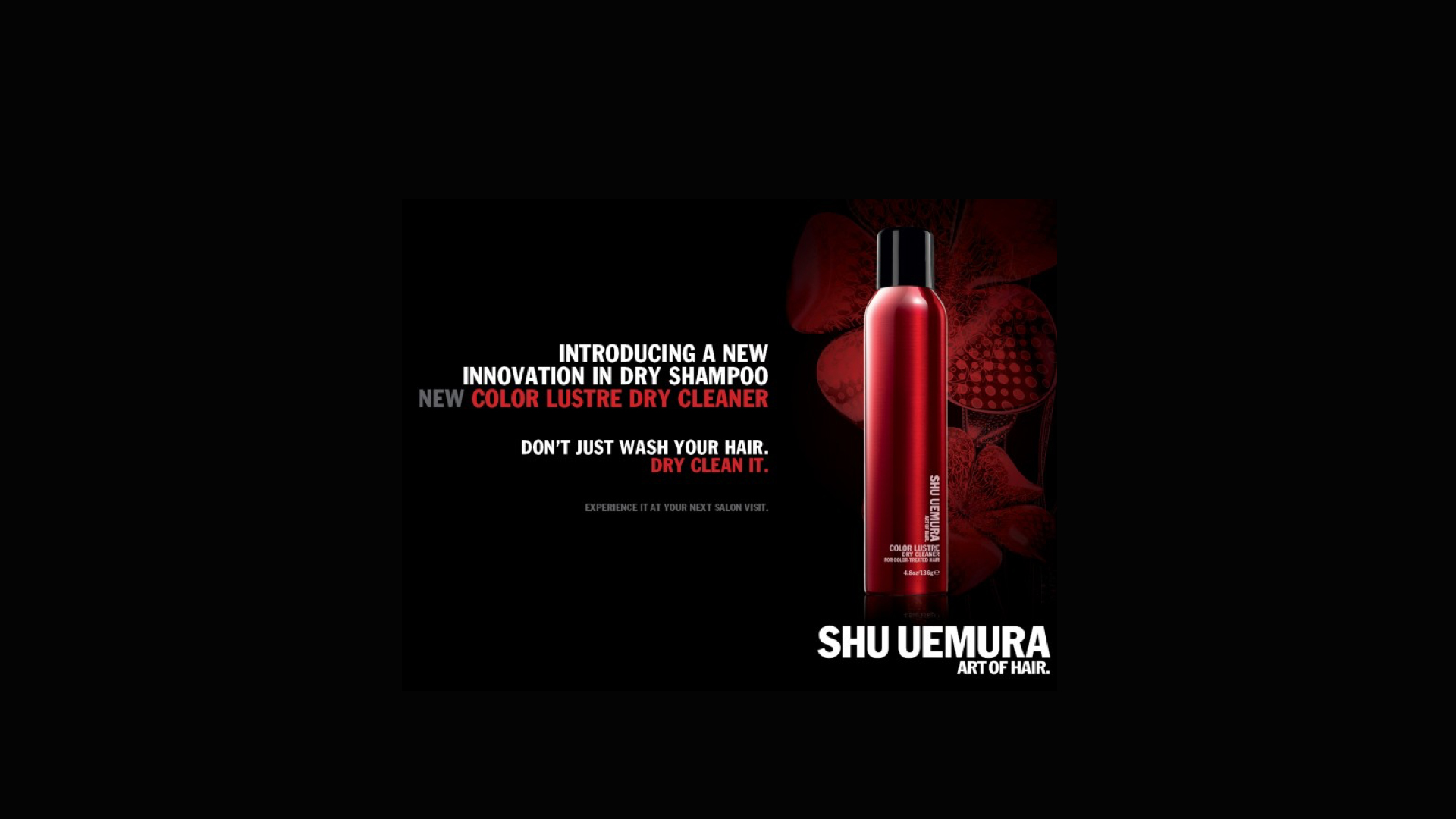 1 shu uemura color lustre dry cleaner 2 in 1 dry shampoo for Aalam salon prices